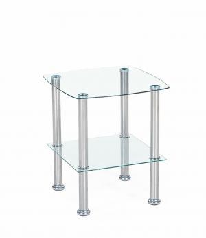 HALMAR Canaria sklenený konferenčný stolík priehľadná