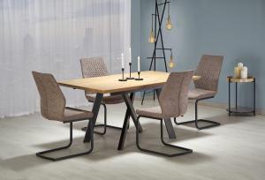 HALMAR Capital rozkladací jedálenský stôl dub zlatý / čierna