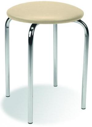 HALMAR Chico stolička bez operadla krémová (V18)