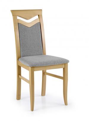 HALMAR Citrone jedálenská stolička dub medový / sivá