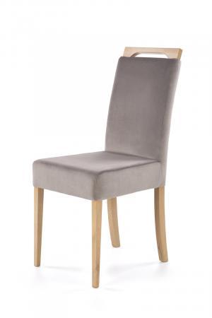 HALMAR Clarion jedálenská stolička dub medový / sivá