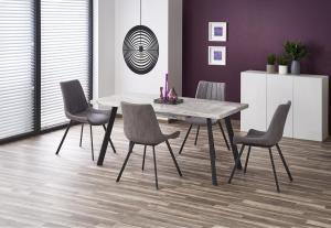 HALMAR Dallas rozkladací jedálenský stôl mramor / čierna