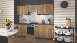 HALMAR Daria 240 kuchyňa dub wotan / antracit