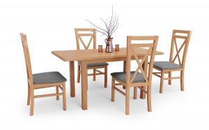 HALMAR Dinner 120/158 rozkladací jedálenský stôl dub craft