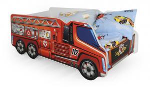 HALMAR Fire detská posteľ s roštom a matracom kombinácia farieb