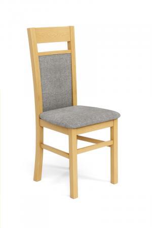 HALMAR Gerard 2 jedálenská stolička dub medový / svetlosivá