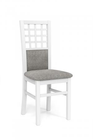 HALMAR Gerard 3 jedálenská stolička biela / svetlosivá