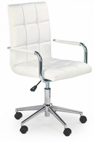 HALMAR Gonzo 2 kancelárske kreslo s podrúčkami biela / chróm