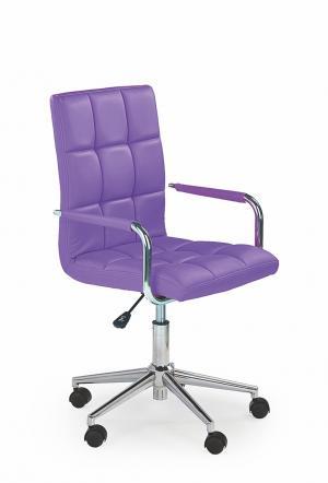 HALMAR Gonzo 2 kancelárske kreslo s podrúčkami fialová / chróm