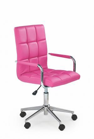 HALMAR Gonzo 2 kancelárske kreslo s podrúčkami ružová / chróm