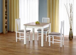 HALMAR Gracjan rozkladací jedálenský stôl dub sonoma / biela