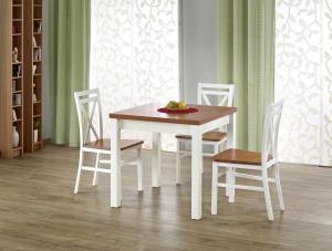 HALMAR Gracjan rozkladací jedálenský stôl jelša / biela