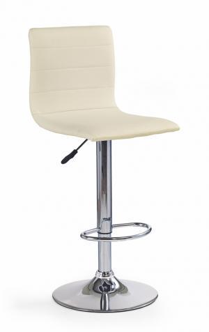HALMAR H-21 barová stolička krémová / chróm