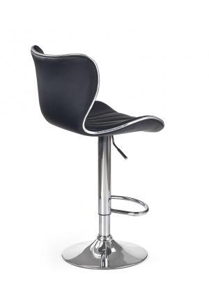 HALMAR H-69 barová stolička čierna / chróm