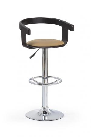 HALMAR H-8 barová stolička wenge / kávová / chróm