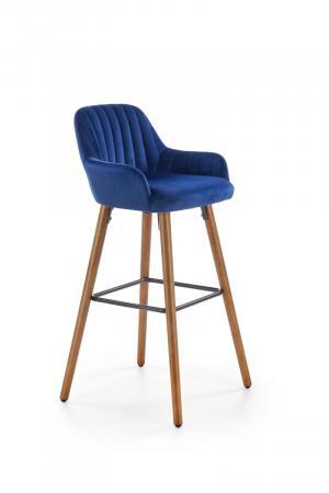 HALMAR H-93 barová stolička granátová / orech