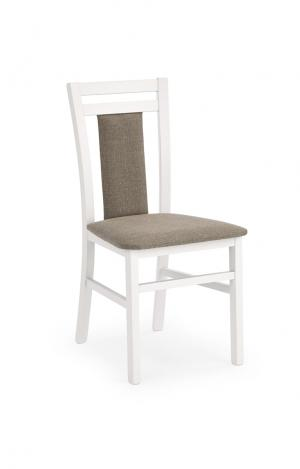 HALMAR Hubert 8 jedálenská stolička biela / hnedá