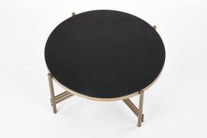 HALMAR Ismena okrúhly konferenčný stolík čierna / zlatá