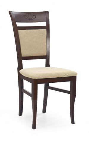 HALMAR Jakub jedálenská stolička tmavý orech / béžová