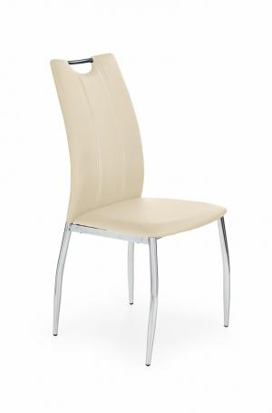 HALMAR K187 jedálenská stolička béžová / chróm