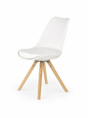HALMAR K201 jedálenská stolička biela / buk
