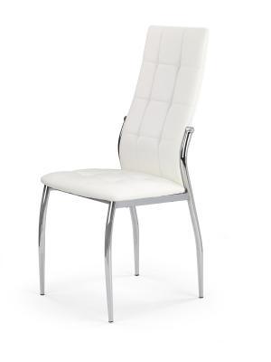 HALMAR K209 jedálenská stolička biela / chróm