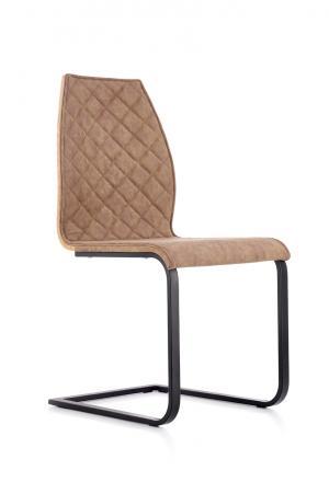 HALMAR K265 jedálenská stolička hnedá / dub zlatý