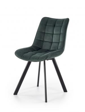 HALMAR K332 jedálenská stolička tmavozelená / čierna
