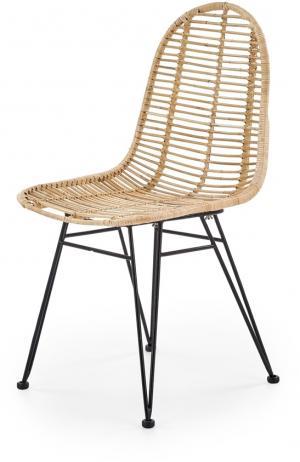 HALMAR K337 jedálenská stolička prírodná / čierna