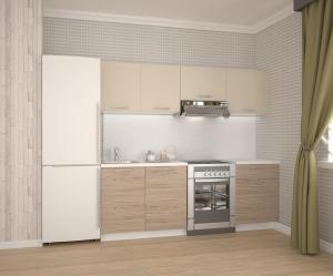 HALMAR Katia 220 kuchyňa béžová / dub san marino / biela