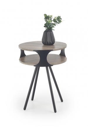 HALMAR Kirby konferenčný stolík dub sonoma tmavá / čierna