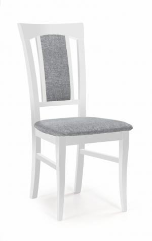 HALMAR Konrad jedálenská stolička biela / sivá