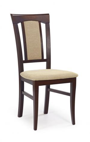 HALMAR Konrad jedálenská stolička tmavý orech / béžová