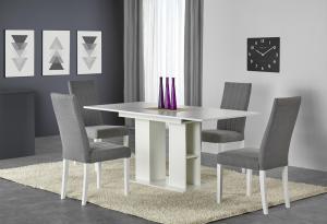 HALMAR Kornel rozkladací jedálenský stôl biela