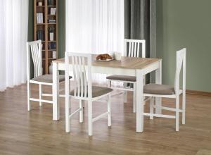 HALMAR Ksawery jedálenský stôl dub sonoma / biela