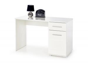 HALMAR Lima B1 písací stolík biely lesk