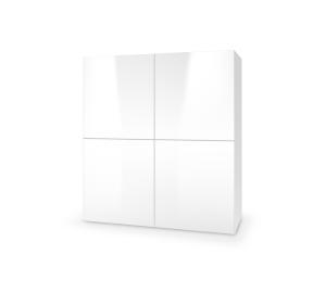 HALMAR Livo KM-100 komoda biela / biely lesk