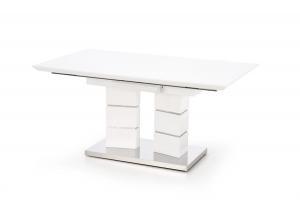 HALMAR Lord 160 rozkladací jedálenský stôl biely lesk