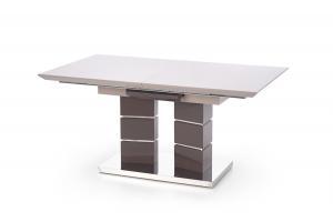 HALMAR Lord 160 rozkladací jedálenský stôl svetlosivý lesk / tmavosivý lesk