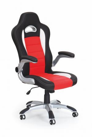 HALMAR Lotus kancelárske kreslo s podrúčkami čierna / červená