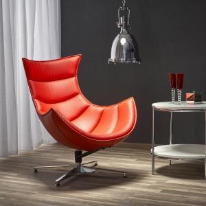 Halmar LUXOR relaxačné kreslo, červená