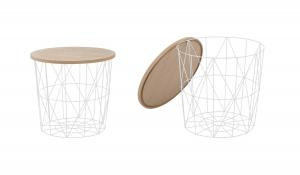 Halmar MARIFFA konferenčný stolík, natural / biela