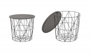 Halmar MARIFFA konferenčný stolík, šedá / čierna