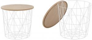HALMAR Mariffa okrúhly konferenčný stolík biela / prírodná
