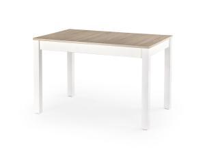 HALMAR Maurycy rozkladací jedálenský stôl dub sonoma / biela