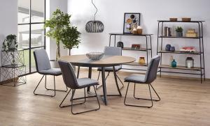 HALMAR Moretti okrúhly rozkladací jedálenský stôl dub zlatý / čierna