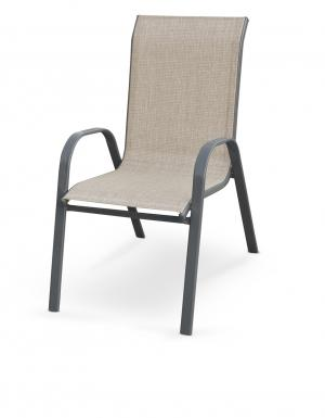 HALMAR Mosler záhradná stolička sivá / tmavosivá