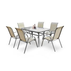 HALMAR Mosler záhradný stôl tmavosivá
