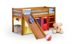 Halmar NEO PLUS - posteľ so šmýkačkou jelša