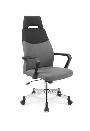HALMAR Olaf kancelárska stolička s podrúčkami sivá / čierna